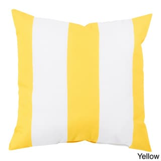 Big Sea Stripes Outdoor Safe Decorative Throw Pillow