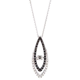 Beverly Hills Charm 10k White Gold 1/3ct TDW Black and White PULSE Diamond Necklace