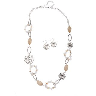 Sea Life Base Metal Necklace and Earring Set