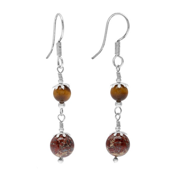 ball jasper stud product red earrings