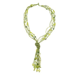Lime Green Glamourus Knot Necklace