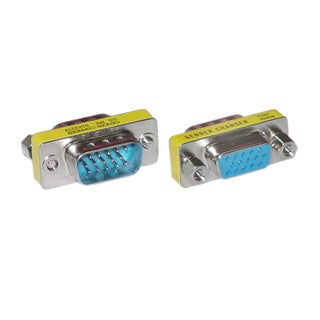 Offex HD15 (VGA) Male / HD15 (VGA) Female, SVGA Mini Coupler (For PC)