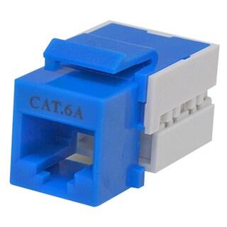 Offex CAT6A Keystone Insert Jack - Blue