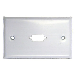 Offex DB9 / HD15 (VGA) Wall Plate Painted Stainless Steel 1 Port