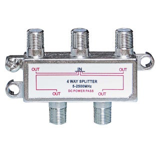 Offex F-Pin (Coax) Splitter 4 way 2 GHz 90dB