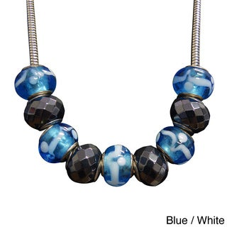 Hematite/ Glass Bead Magnetic Necklace