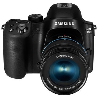 Samsung Smart NX30 20.3 Megapixel Mirrorless Camera with Lens - 18 mm