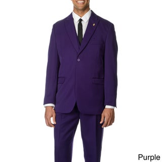Falcone Men's Single Breasted 3-piece Vested Suit (More options available)