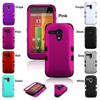 INSTEN Rubberized TUFF Hybrid Phone Protector Phone Case Cover for Motorola Moto G