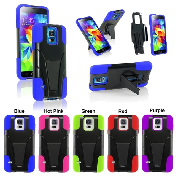 BasAcc Colorful Hybrid T Stand Cover Hard Case for Samsung Galaxy S5/ SV