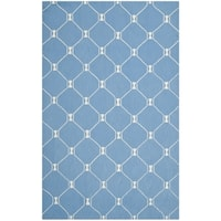 Isaac Mizrahi by Safavieh Handmade Island Lattice Blue Wool Rug - 8' x 10'