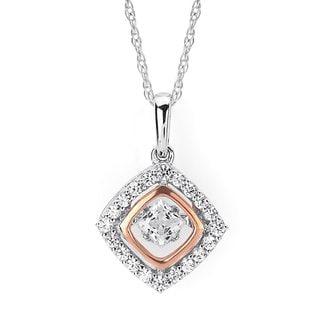 Boston Bay Diamonds 14k Two-tone Gold Brilliance in Motion 1/2ct TDW Diamond Pendant Necklace (I,I1)