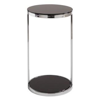 Sunpan 'Ikon' Benjamin Stainless Steel/ Black End Table