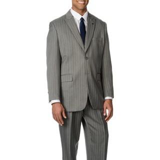 Stacy Adams Men's Grey Stripe 3-piece Vested Suit