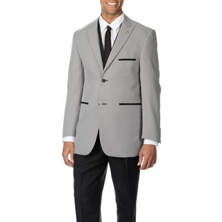 Falcone Men's Black Houndstooth 4-piece Vested Suit (More options available)