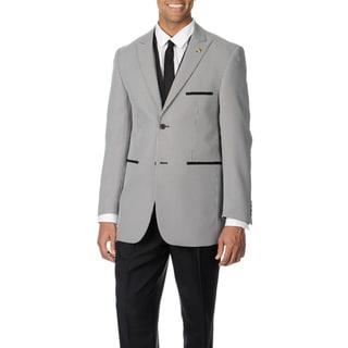 Falcone Men's Black Houndstooth 4-piece Vested Suit