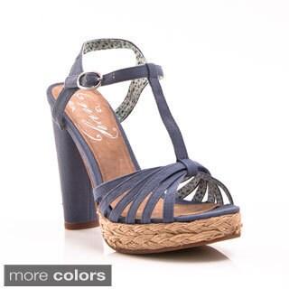 Women's 'Be Easy' Open Toe T-strap Espadrille Sandals