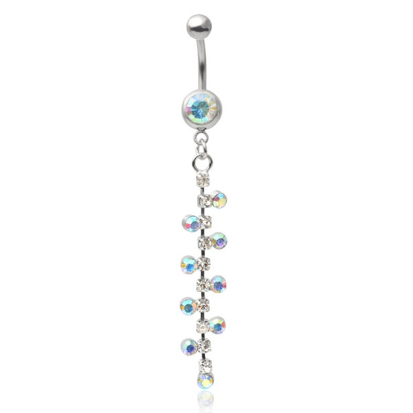Mishbehave Stainless Steel Rhinestone Belly Ring