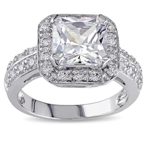 Miadora Sterling Silver Cubic Zirconia Ring