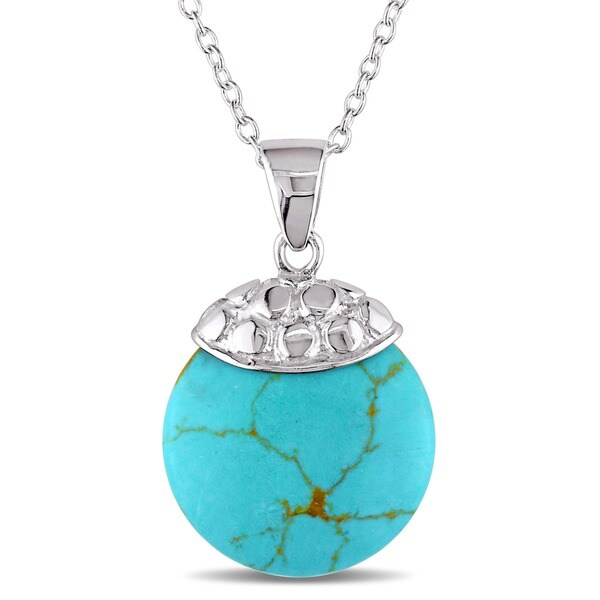 Miadora Sterling Silver Turquoise Necklace