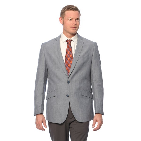 Kenneth Cole Reaction Men's Slim Fit Blue/Grey Linen Sport Coat ...