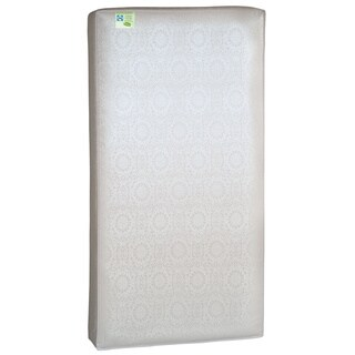 Sealy Soybean Everedge Foam-core Crib Mattress with Waterproof Cover - almond