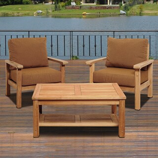 Amazonia Teak San Francisco Deluxe 3-piece Deep Seating Patio Set