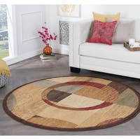 Alise Rhythm Multi Contemporary Area Rug (7'10 Round) - 7'10