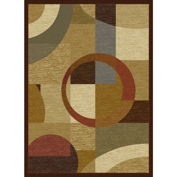 Alise Rhythm Multi Contemporary Area Rug (9'3 x 12'6)