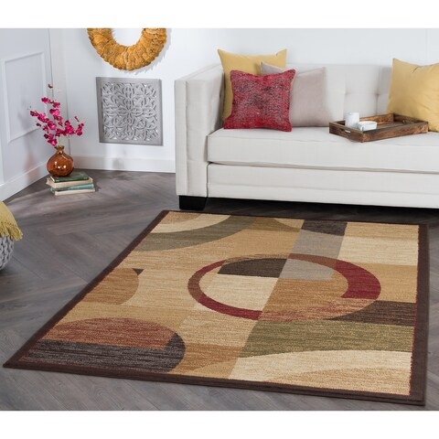Alise Rugs Rhythm Contemporary Geometric Area Rug - multi - 9'3 x 12'6