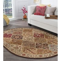 Alise Rugs Rhythm Traditional Abstract Oval Area Rug - 5'3 x 7'3