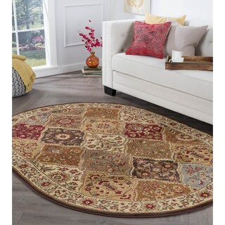 Alise Rhythm Multi Traditional Area Rug (6'7 x 9'6 Oval) - 6'7 x 9'6