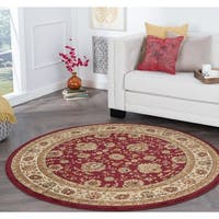 Alise Rhythm Red Traditional Area Rug (5'3 Round) - 5'3
