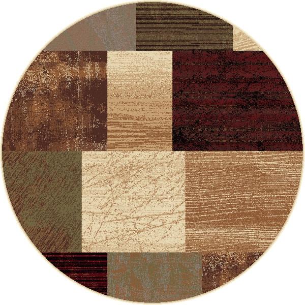 Alise rhythm multi contemporary area rug 7 39 10 round for Round area rugs contemporary