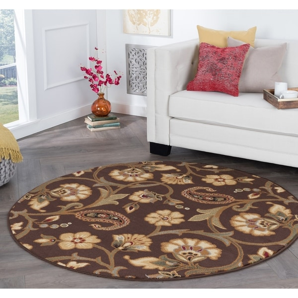 Shop Alise Rugs Rhythm Transitional Floral Round Area Rug