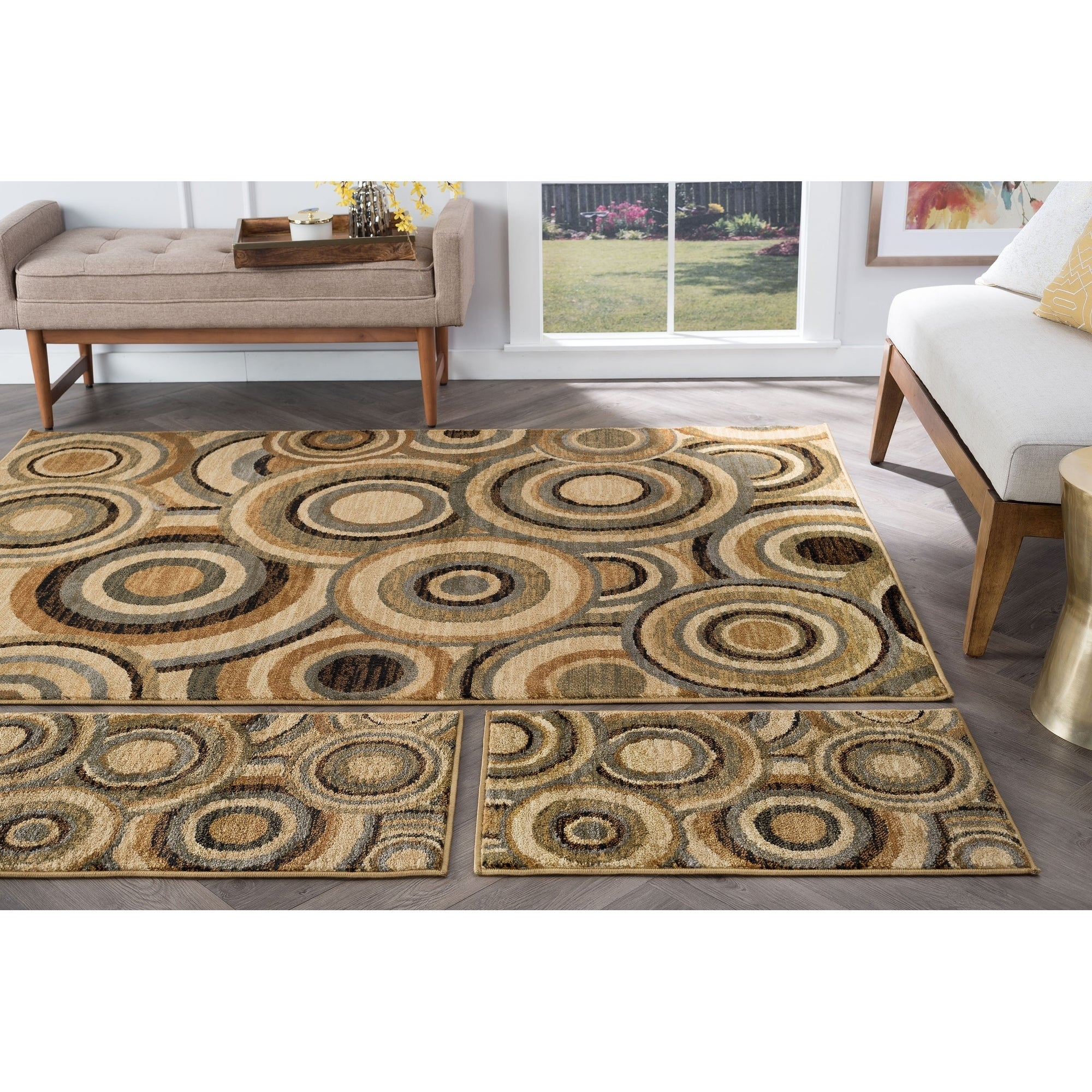 Alise Rhythm Multi 3-piece Contemporary Area Rug Set, Siz...