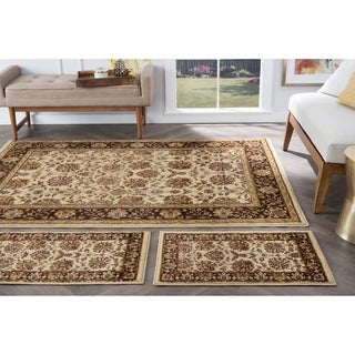 Alise Rugs Rhythm Transitional Floral Three Piece Set - 5' x 7'