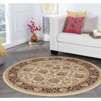 Alise Rugs Rhythm Transitional Floral Round Area Rug - 5'3 x 5'3