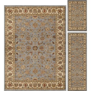 Alise Rugs Rhythm Traditional Oriental Three Piece Set - 20'' x 32''/5' x 7'/20'' x 60''