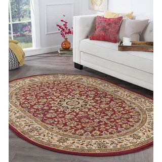 Alise Rhythm Oval Transitional Area Rug (6'7 x 9'6 Oval) - 6'7 x 9'6
