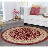 Alise Rhythm Transitional Area Rug (7'10 Round) - 7'10
