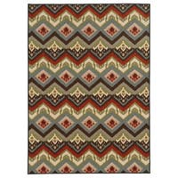 Geometric Tribal Multi Nylon Rug - 6'7 x 9'3