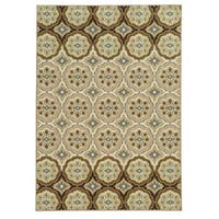 Shop Loop Pile Casual Floral Tan Ivory Nylon Rug 7 10 X