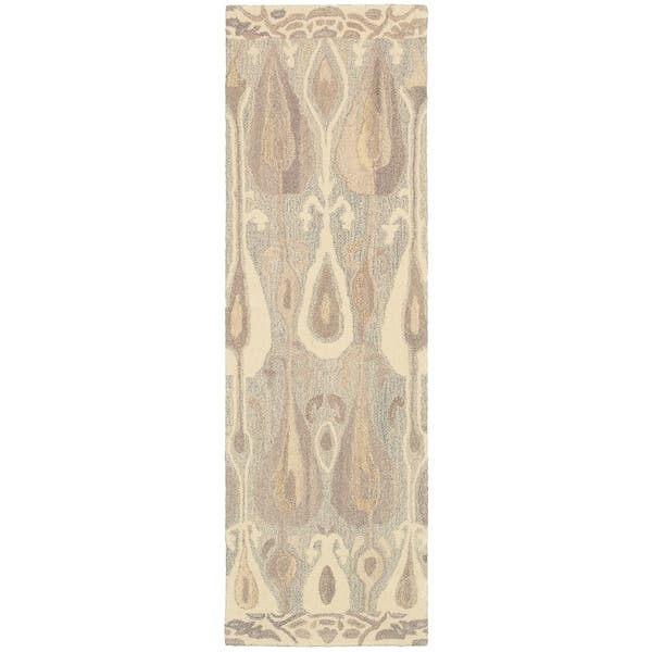 Alana Abstract Hand Made Native Colored Wool Area Rug Overstock 8938975