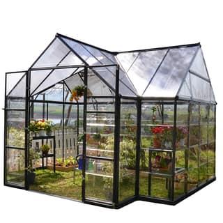 Palram Garden Chalet 10 feet x 12 feet Greenhouse|https://ak1.ostkcdn.com/images/products/8939085/P16152712.jpg?impolicy=medium
