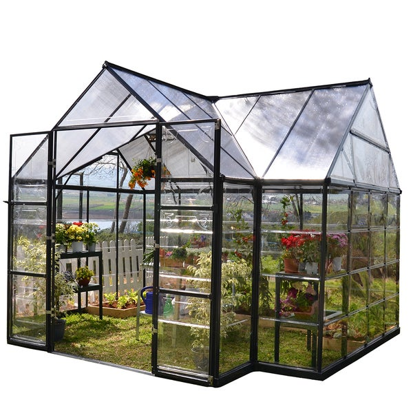 Palram garden chalet 10 feet x 12 feet greenhouse free for What size area rug for a 12x12 room