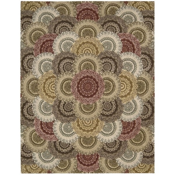 Nourison Nourison Hand-tufted 2000 Floral Multicolor Area Rug (9'9 x 13'9) - 9'9 x 13'9