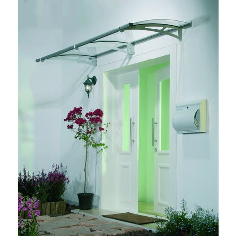 Palram Aquila 2050 Clear Poly-carbonate/ Aluminum Awning