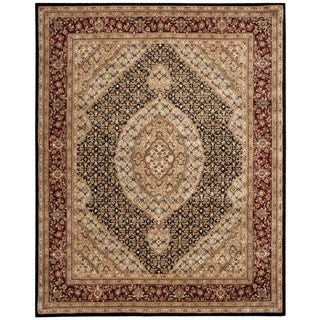 Nourison 2000 Black Medallion Rug (7'9 x 9'9)
