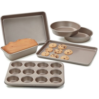 Cook N Home 6-piece Heavy Gauge Bronze Finish Bakeware Set